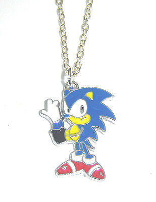 SONIC THE HEDGEHOG CHARM PENDANT NECKLACE COOL KIDS JEWELLERY BOYS IN GIFT BAG