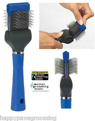 Grooming EXTRA FIRM FLEXIBLE SLICKER BRUSH PET Dog Cat Hair Mat Remover Breaker