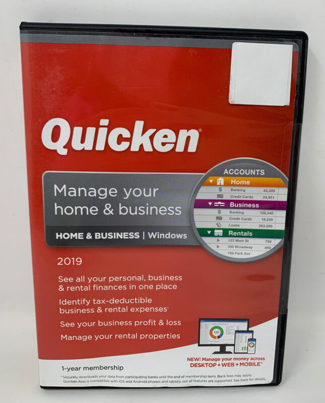 Quicken Home & Business 2019 Windows - New/Sealed - (1-21 TO)