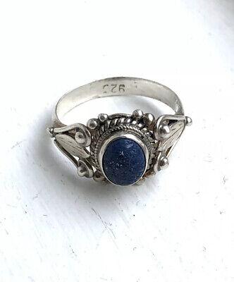 Vintage 925 Sterling Silver Lapis Lazuli Ring