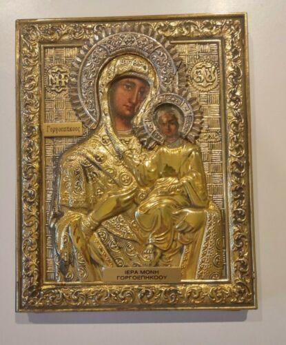 Greek Byzantine Icon Holy Virgin Mary - Panagia Gorgoepikoos!!!