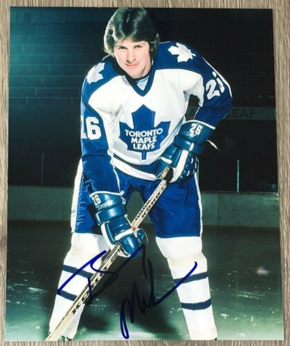 BARRY MELROSE SIGNED AUTOGRAPH TORONTO MAPLE LEAFS 8x10 PHOTO A