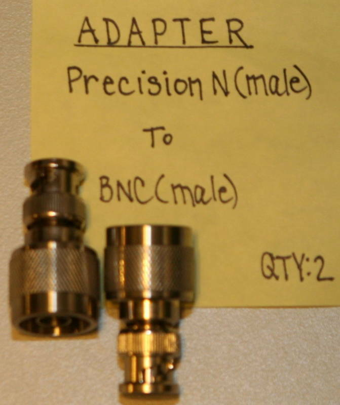 (2) N(Male-Precision) to BNC(Male) Adapters