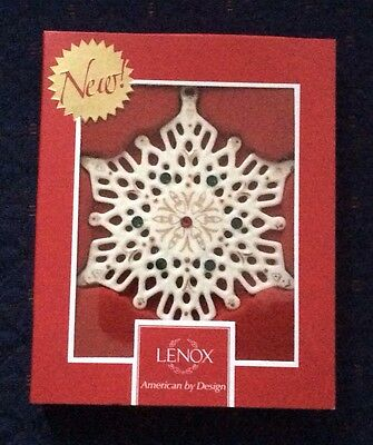 ( Lenox 2014 China Jewels Snowflake Ornament Christmas Holiday New In Box PERFECT)