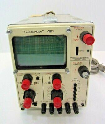 Telequipment Oscilloscope Type S54 Analog 10mhz
