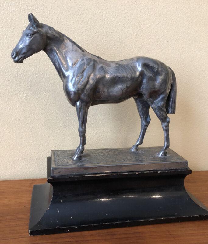 1910 WMF Britannia JUGENDSTIL ART NOUVEAU SILVERED PEWTER SIGNED HORSE Germany