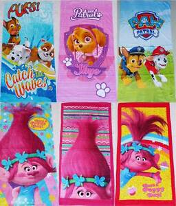 Wholesale 100% Cotton Paw Patrol Trolls Kids Bath Beach Towel Kenthurst The Hills District Preview