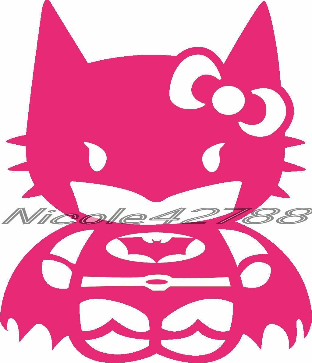 Vinyl Hello Kitty Batman Decal Sticker Laptop Tablet Car Decal