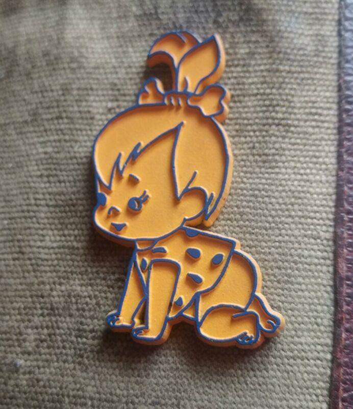 "Hanna-Barbera classic vintage Flintstones ""Pebbles"" fridge rubber magnet"