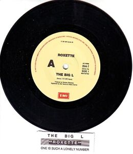 ROXETTE-The-Big-L-7-45-rpm-vinyl-record-juke-box-title-strip