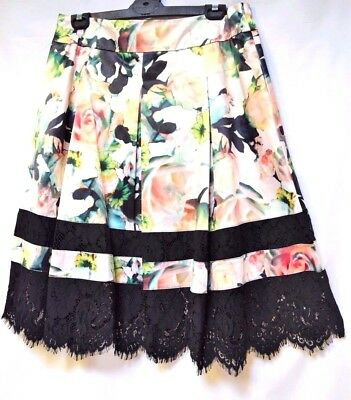 TS skirt TAKING SHAPE EVENT-WEAR plus sz XS / 14 'Sundae Rose' lacy NWT rrp$180!