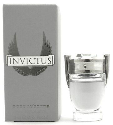 Bottle Edt - Invictus by Paco Rabanne 0.17 oz.EDT Mini Bottle SPLASH. New in Box