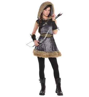 Miss Bogenschütze Mädchen Kind Robin Hood Märchenbuch Halloween Kostüm