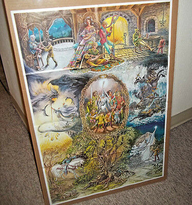 LORD OF THE RINGS, THE HOBBIT poster. Judy King Rieniets 1978