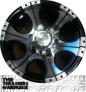 Four-16x8-4x4-Heavy-load-Alloy-Wheels-Nissan-Ford-Isuzu-Holden-Toyota-Mazda