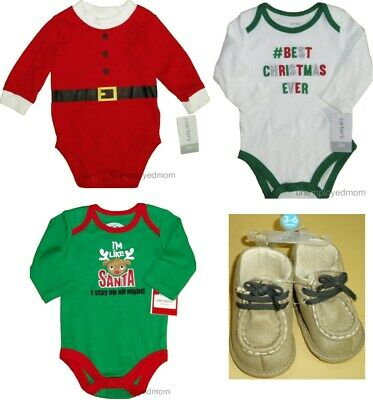 Christmas Bodysuits Boots Baby Boys First Holiday Creeper # Best Santa Stay