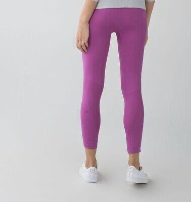 Lululemon Womens Yoga Workout Leggings Size 4 Zone In Crop Ultra Violet