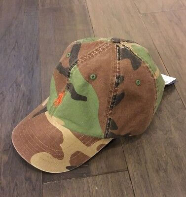 Camouflage Hunting Hat (Polo Ralph Lauren Ball hat new men's Cap Camo Camouflage Hunting Adjustable )
