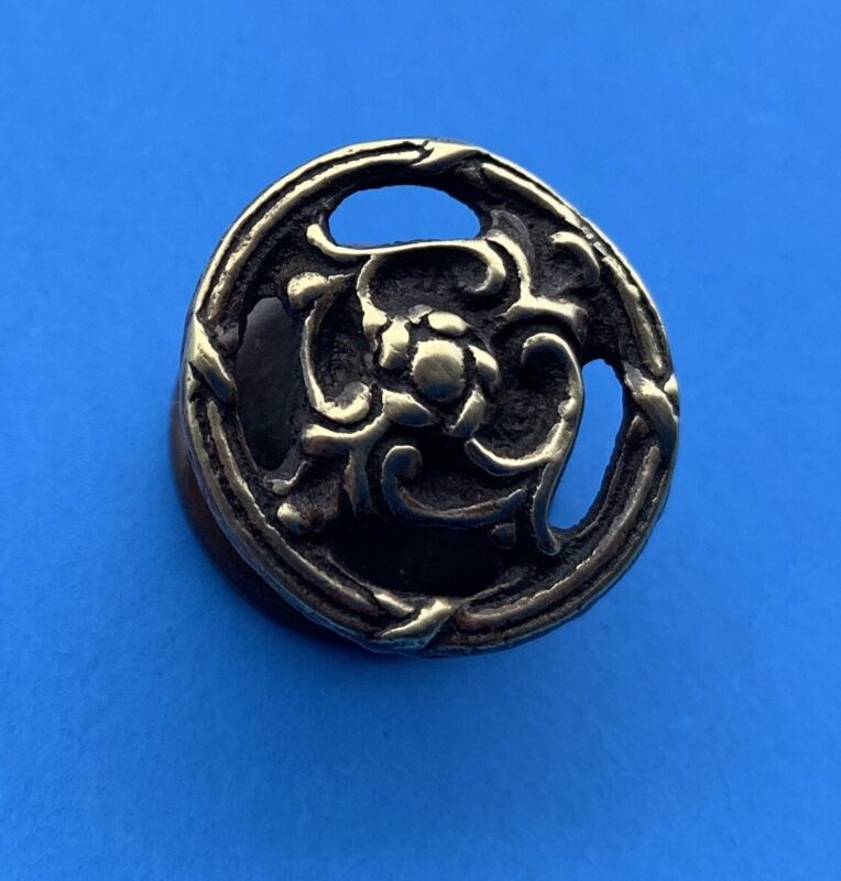 Flower Knob Victorian  French Brass Antique Hardware drawer pulls cabinet knob