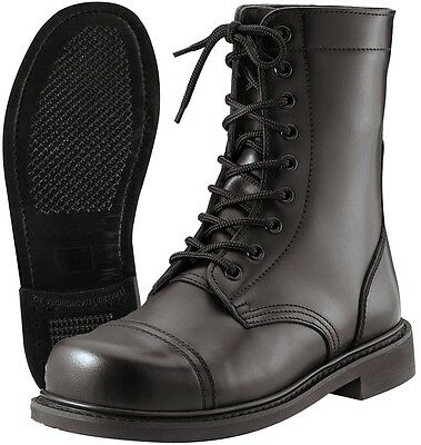Mens GI Style Black Combat Boot - Made To Military (Boots Mens Glasses)