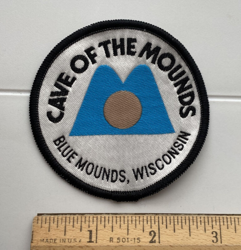 Cave of the Mounds Blue Mounds Wisconsin Souvenir Round Woven Patch Badge