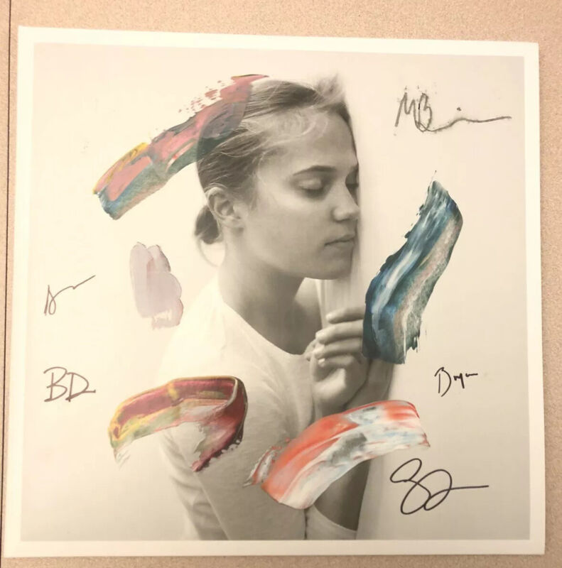 Autographed The National - I Am Easy To Find SIGNED 2 LP Colored Vinyl  Smudged