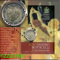 2 Euro 2010 San Marino 500th Morte Di Sandro Botticelli In Folder Ufficiale - sandro - ebay.it