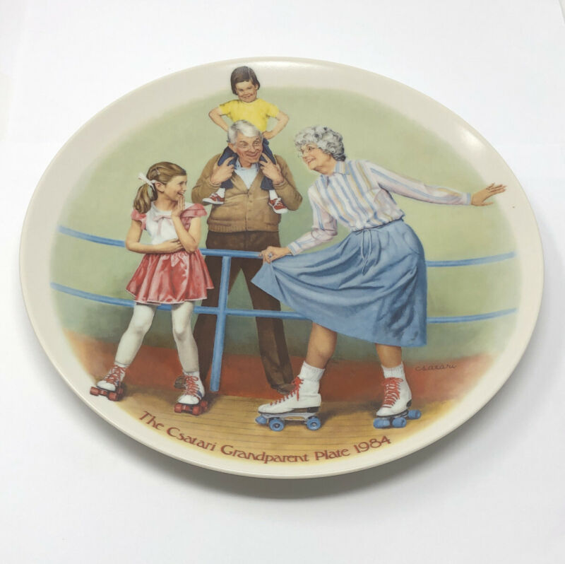 Knowles Fine China The Csatari Grandparent Plate 1984 The Skating Queen # 10410B