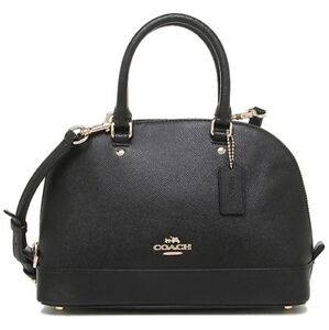 Coach-Mini-Sierra-Crossbody-Satchel-Crossgrain-Leather-Black-COD-PayPal
