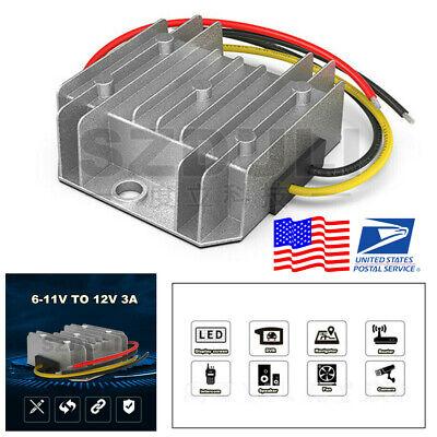 Aluminum Car Dc 6v To 12v Step Up Converter Boost Regulator Module Waterproof