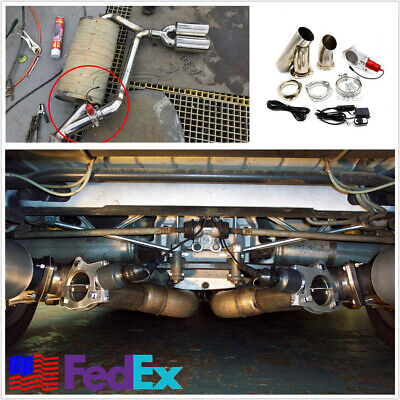 "​2.5"" Electric Exhaust Muffler Valve Cutout System Dump Wireless Remote Control"