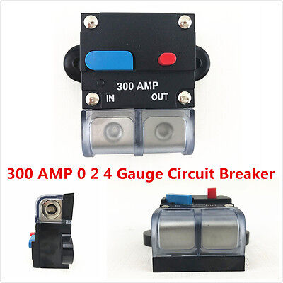 - 300 AMP 0 2 4 Gauge Car Audio Inline Power Circuit Breaker DC 12V System PREMIUM