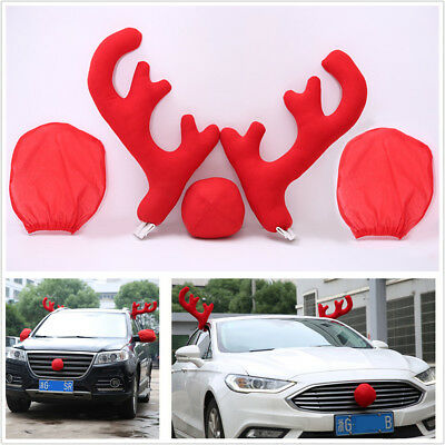 Lovely Antlers Nose With Mirror Cover Car Vehicle Costume Christmas Decor Tools](Ace Venture Costume)