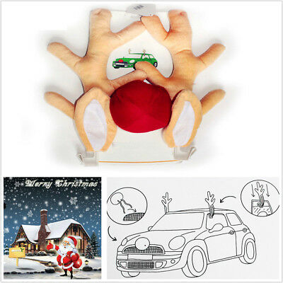 Cute Funny Reindeer Christmas Car Decoration Horn Costume Set Antlers Ornaments](Ace Venture Costume)