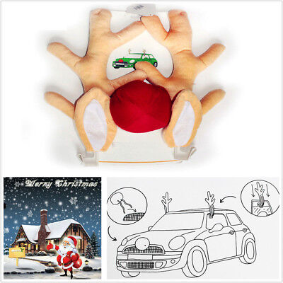 Cute Funny Reindeer Christmas Car Decoration Horn Costume Set Antlers Ornaments - Tucson Costumes