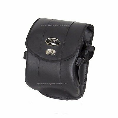 MOTORCYCLE SMALL CRUISER STYLE SISSY BAR CARRY BAG TRAVEL BAG LUGGAGE BLACK NEW for sale  Paterson