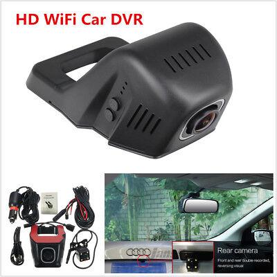 HD Mini Hidden Car Wifi Dual Lens DVR Video Recorder Rear Camera Kit App Control Focus Lens Control Kit