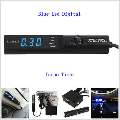 12V Universal Auto Car Turbo Timer For NA &Turbo Black Pen Control Blue LED Unit