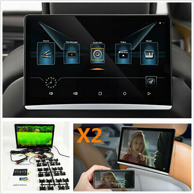 "2Pcs 12.5"" HD 1080P Touch Screen Car Headrest Monitor WIFI HDMI Android 6.0 TPMS"