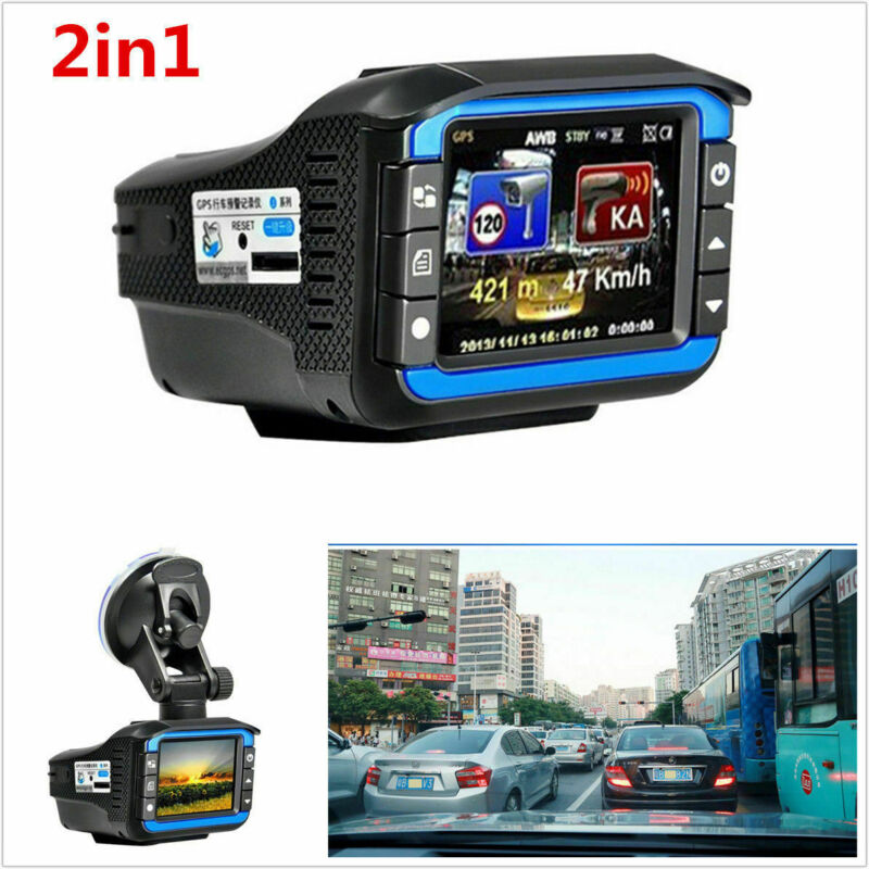 2 in 1 Car Speed Detector Dash Cam Gifts Hidden DVR Camera Recorder Radar Laser