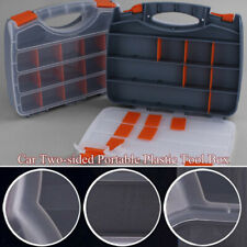 Two-sided Portable Plastic Tool Box Garage DIY Parts ...