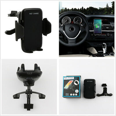 Portable Qi 10W Fast Wireless Charging Auto Car Phone GPS Mount Holder Stand Kit 760 Portable Gps
