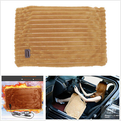 - 12V Winter Car Electric Heat Seat Cover Heater Blanket Shield Knee Pad Blanket