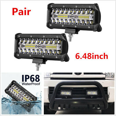 2Pcs 240W Off-road Driving Lights LED Work Light Bar Car Pickup Fog Lights IP68