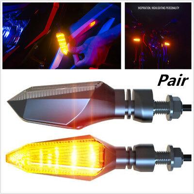 Pair 12V Motorcycle LED Turn Signal Headlight Direction Indicator Warning light