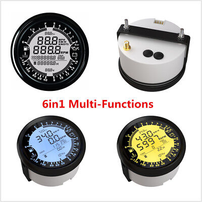 85mm GPS Speedometer Gauge Hour Water Temp Fuel Level Oil Pressure Voltmeter 12V