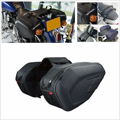 2Pcs 36-58L Motorcycle Saddle Bags Luggage Pannier Helmet Tank Bags W/Rain Cover for sale  China