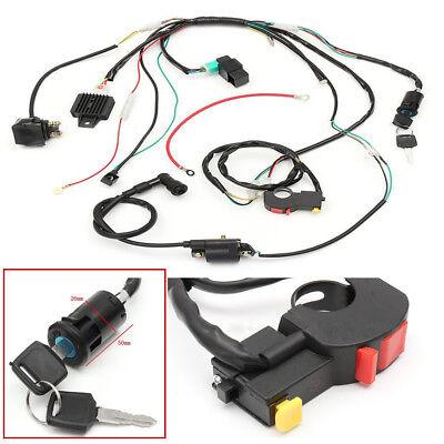 50cc-125cc Wire Harness Stator Assembly Wiring Dirt Bike ATV Electric Quad Kit