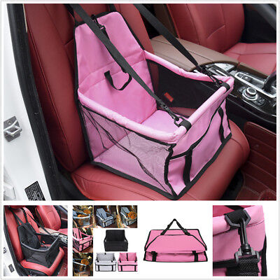 Pink Pet Dog Carrier Car Seat Pad Safe Carry House Travel Accessories Waterproof