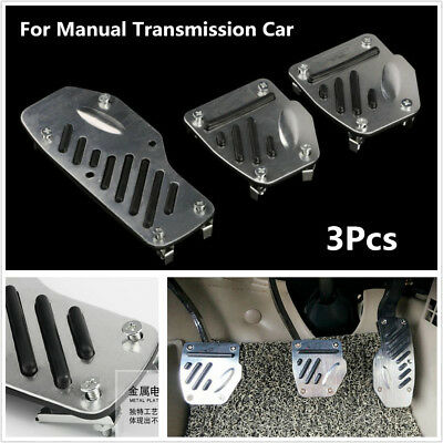 3Pcs Foot Pedals Pad Car Manual Transmission M T Brake Clutch Accelerator Covers